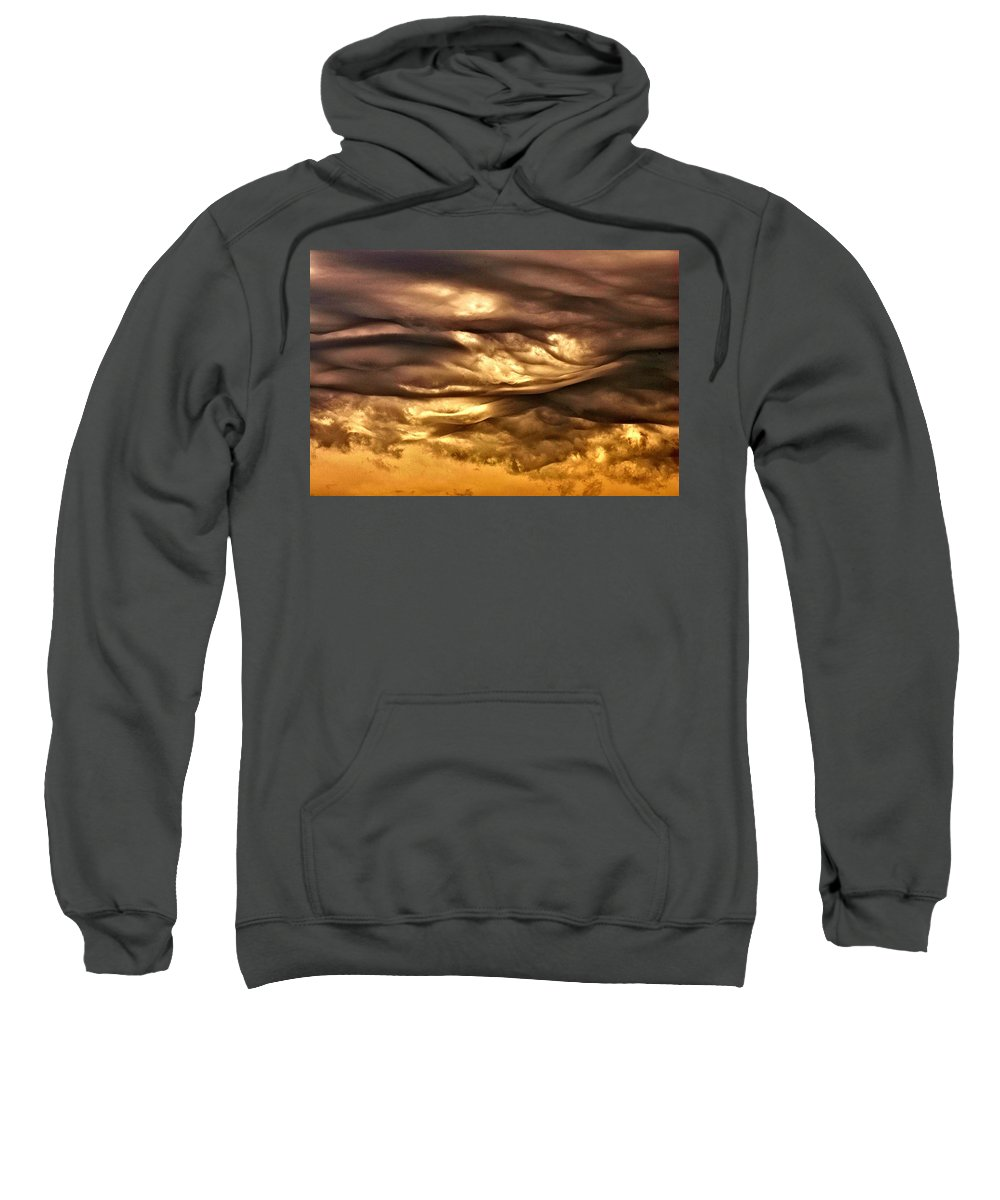 Clouds Sweatshirt featuring the photograph Chocolate Sky by One Rude Dawg Orcutt