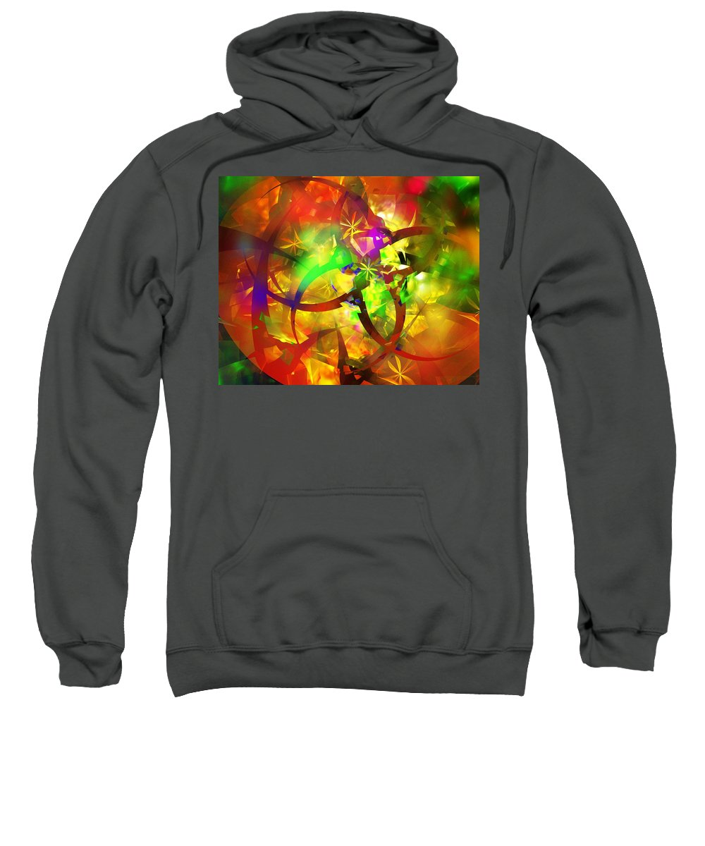Fine Art.modern Art Sweatshirt featuring the digital art Christmas Chaos by David Lane