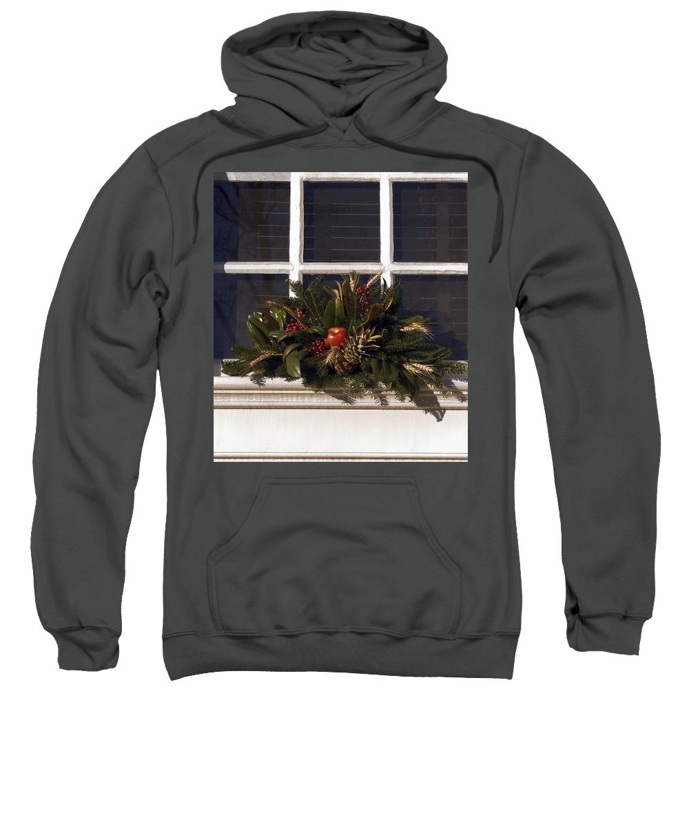 Wreath Sweatshirt featuring the photograph Christmas Decoration by Sally Weigand