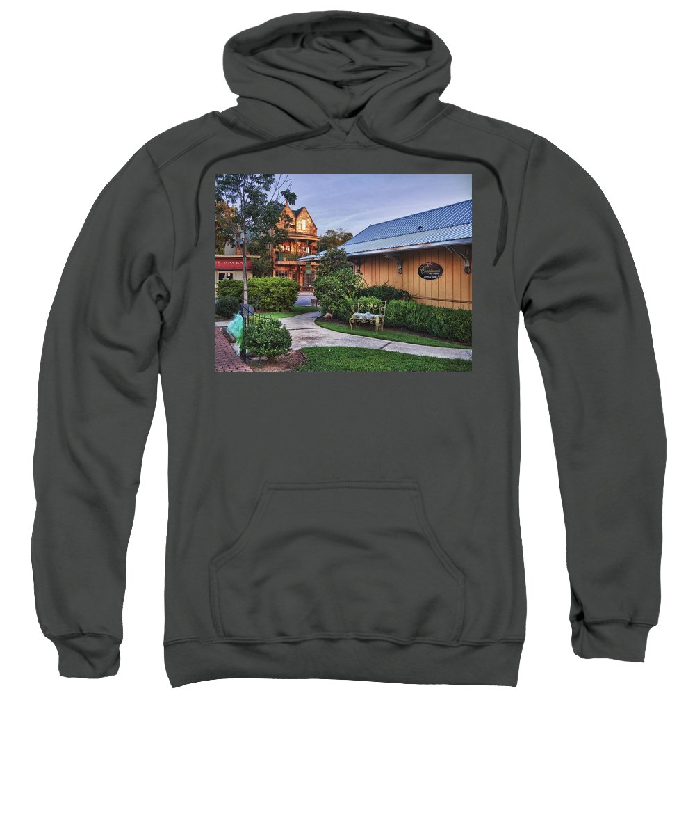 Alabama Photographer Sweatshirt featuring the digital art Church And Del La Mare by Michael Thomas