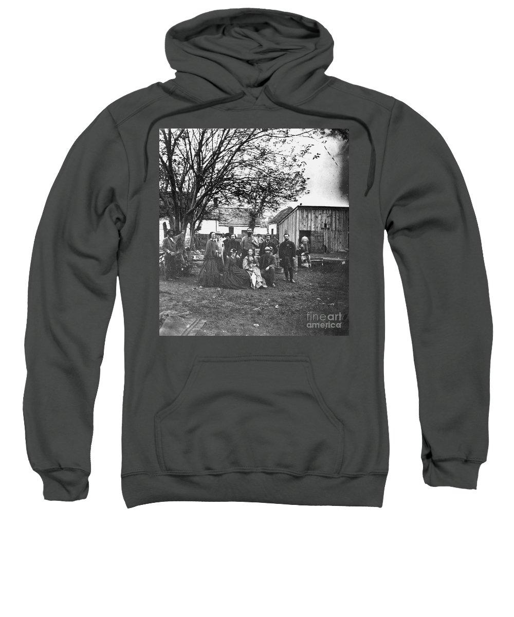 1864 Sweatshirt featuring the photograph Civil War: Nurses & Officers by Granger