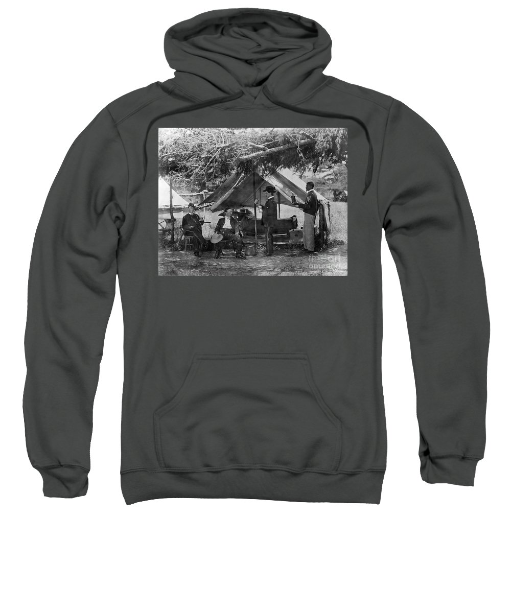 1865 Sweatshirt featuring the photograph Civil War: Union Camp by Granger