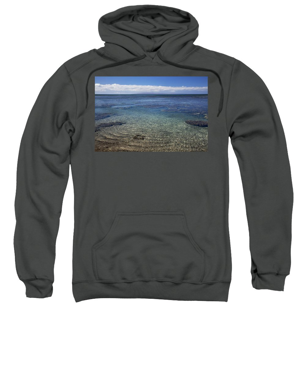 Beach Art Sweatshirt featuring the photograph Clear Water And Coral by Jenna Szerlag