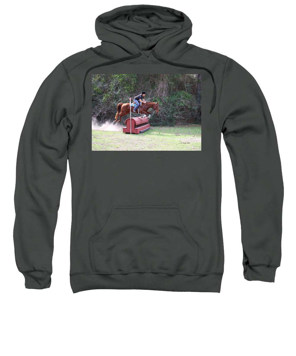 Roena King Sweatshirt featuring the photograph Cleared It Fine by Roena King