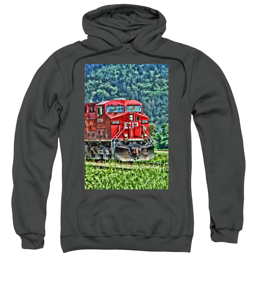 Trains Sweatshirt featuring the photograph Coal Train Hdr by Randy Harris