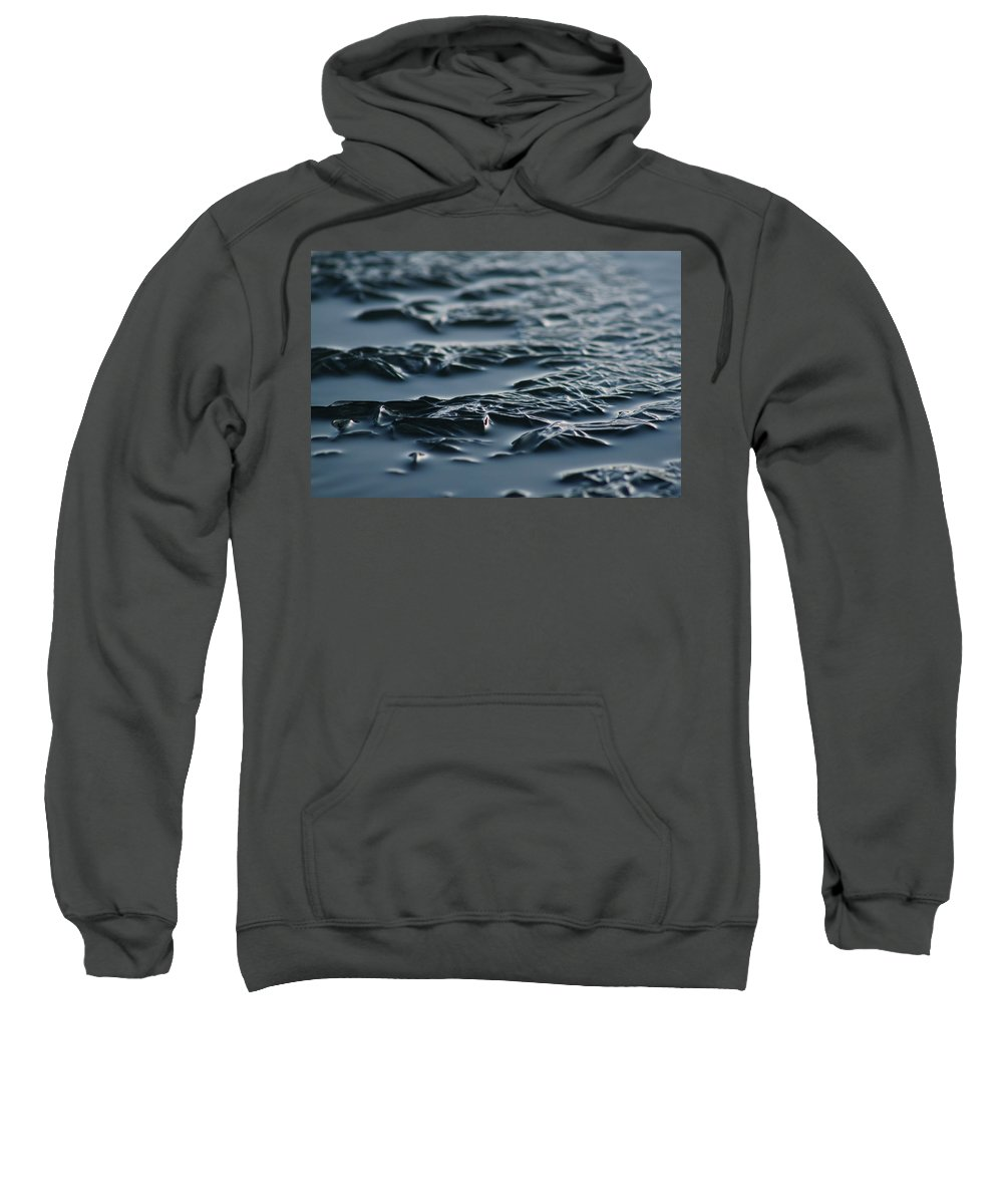 Ice Sweatshirt featuring the photograph Cold Rivers Edge by Cathie Douglas