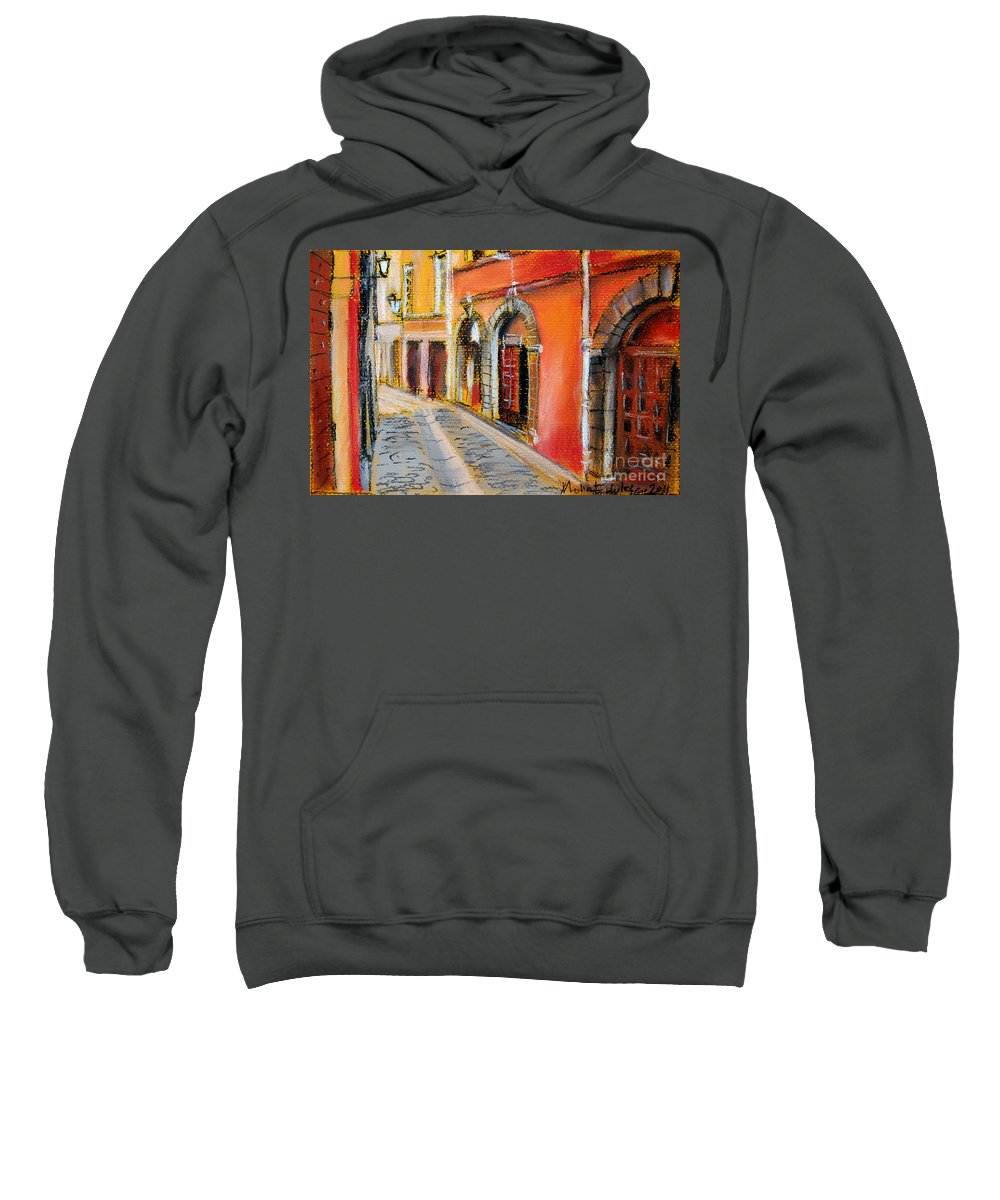 Mona Edulescu Sweatshirt featuring the pastel Colors Of Lyon 4 by Mona Edulesco
