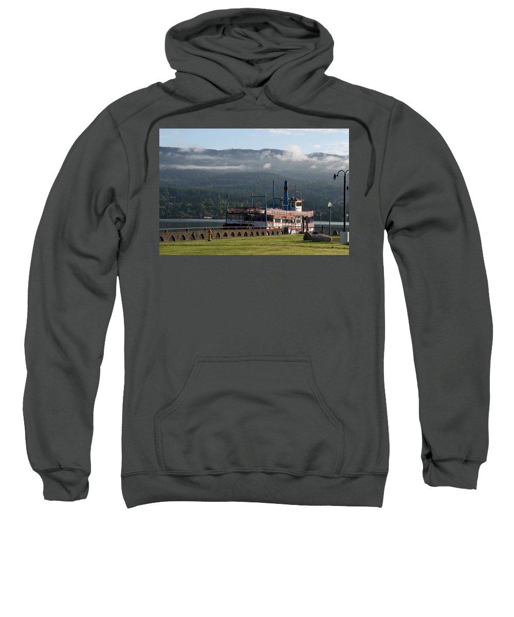 Oregon Sweatshirt featuring the photograph Columbia River Gorge Sternwheeler by Elizabeth Rose