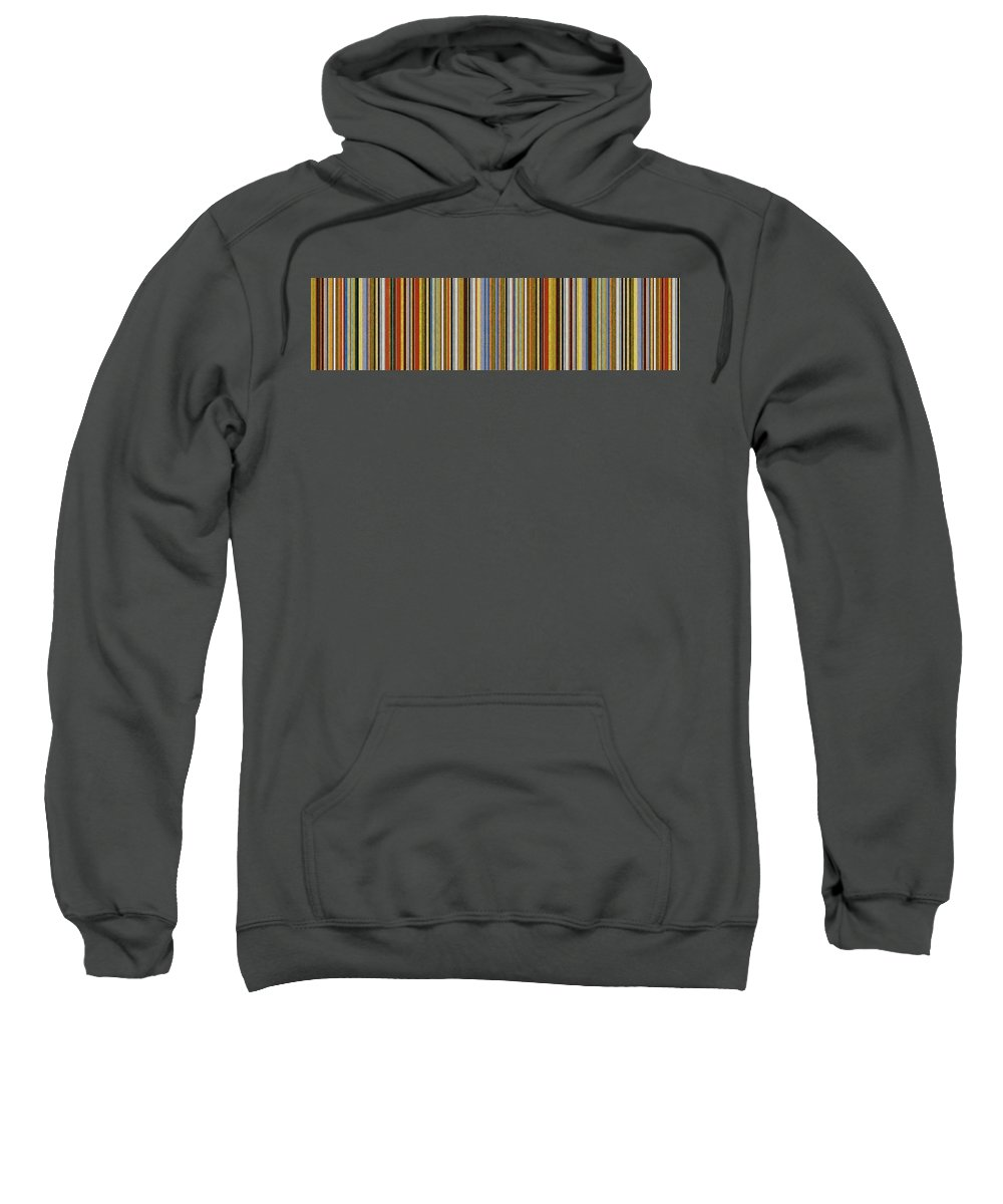 Textured Sweatshirt featuring the painting Comfortable Stripes Vlll by Michelle Calkins