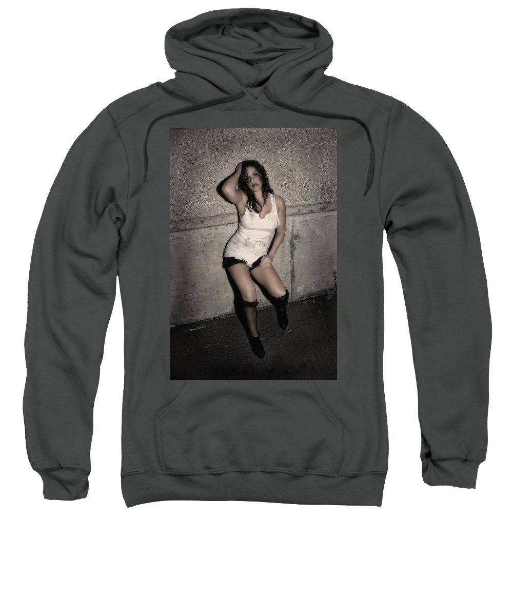 Woman Sweatshirt featuring the photograph Concrete Velvet 24 by Donna Blackhall