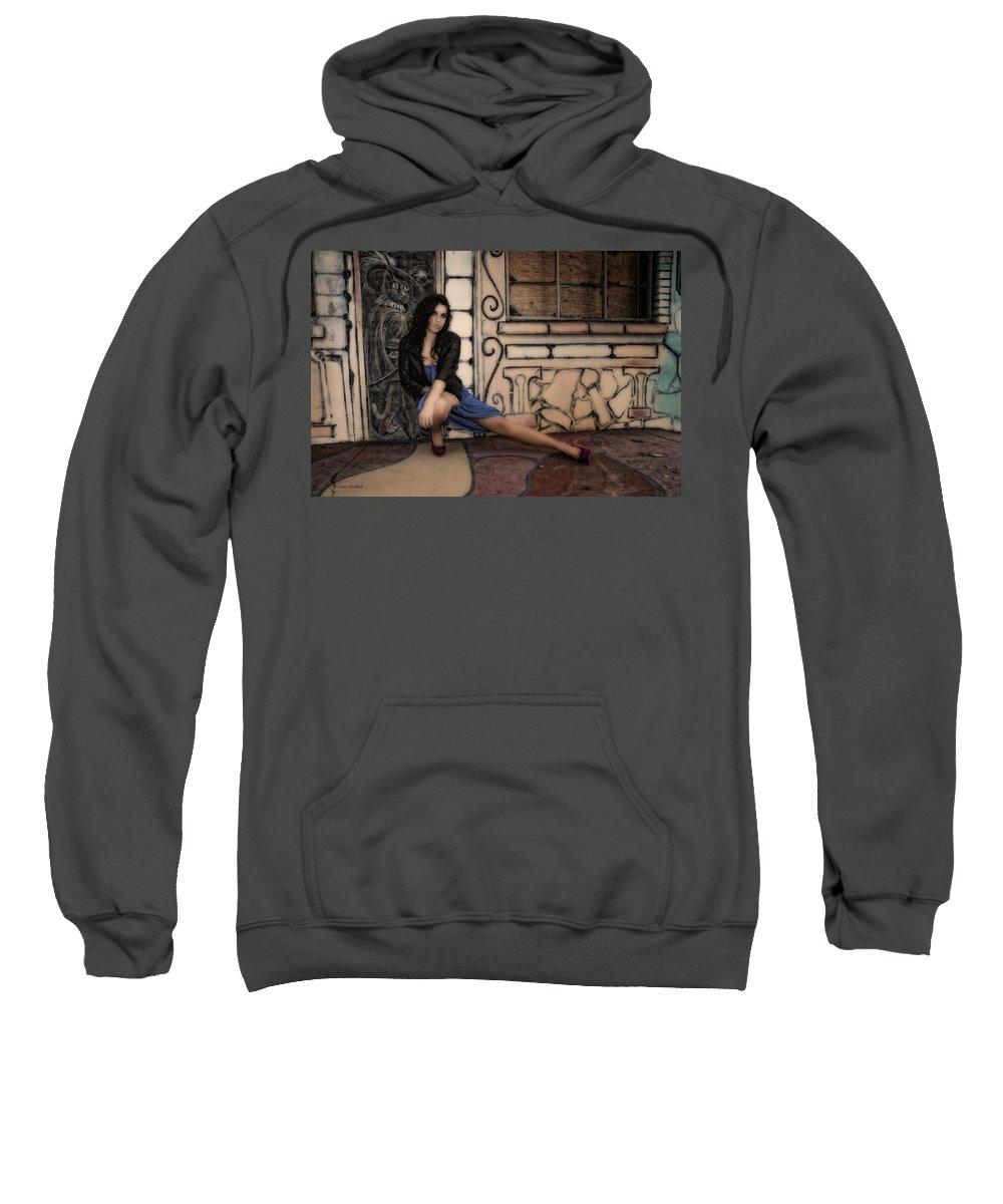 Woman Sweatshirt featuring the photograph Concrete Velvet 7 by Donna Blackhall