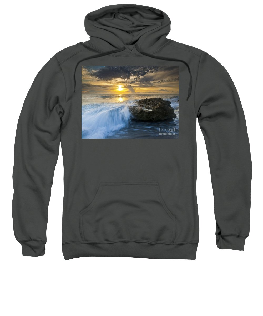Coral Cove Sweatshirt featuring the photograph Coral Cove by Bruce Bain