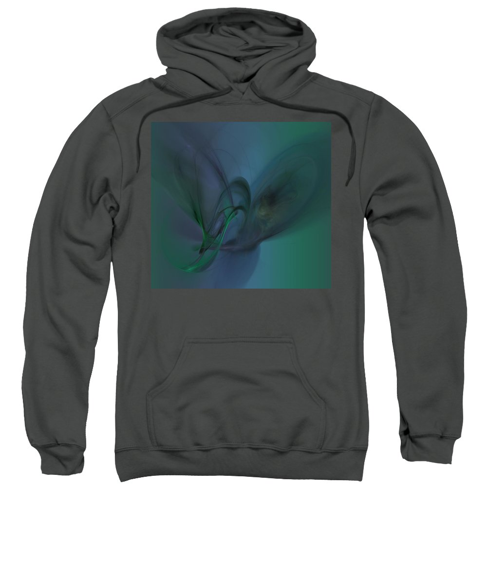 Abstract Sweatshirt featuring the digital art Cosmic Butterfly by Christy Leigh