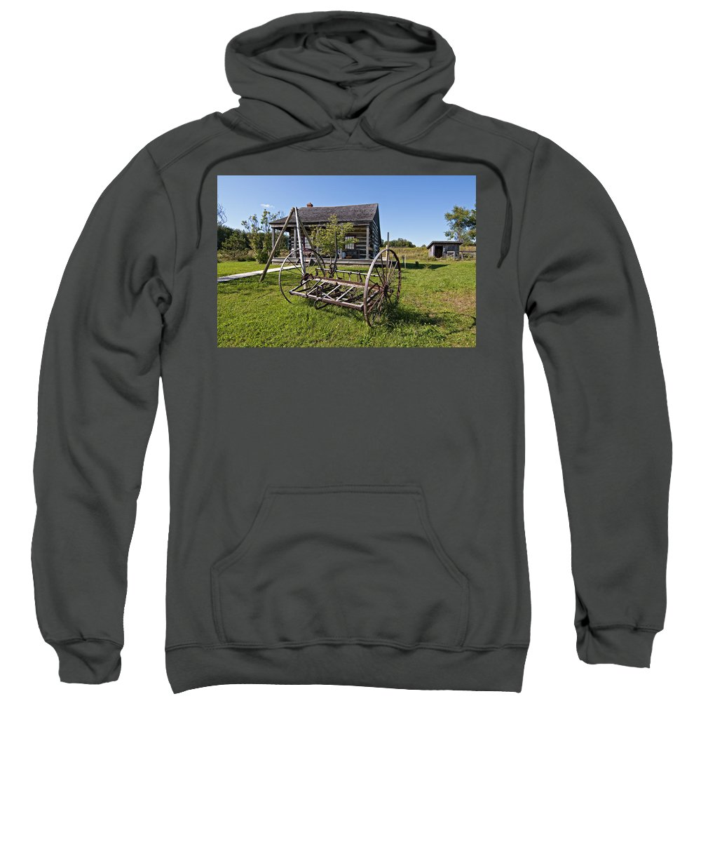 Grey Roots Museum & Archives Sweatshirt featuring the photograph Country Classic by Steve Harrington