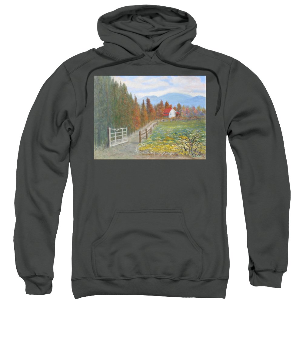 Sweatshirt featuring the painting Country Road by Ben Kiger