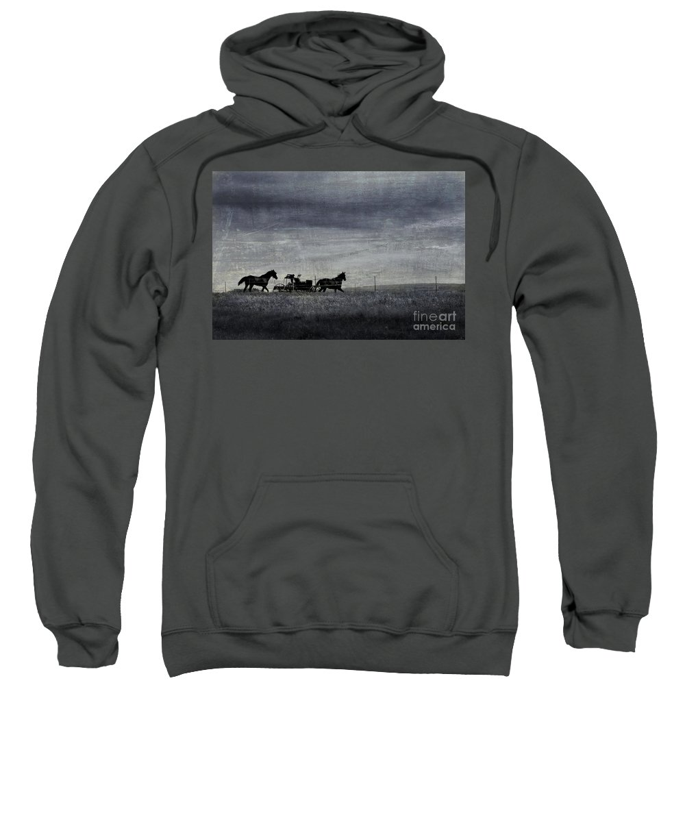 Wagon Sweatshirt featuring the photograph Country Wagon by Perry Webster