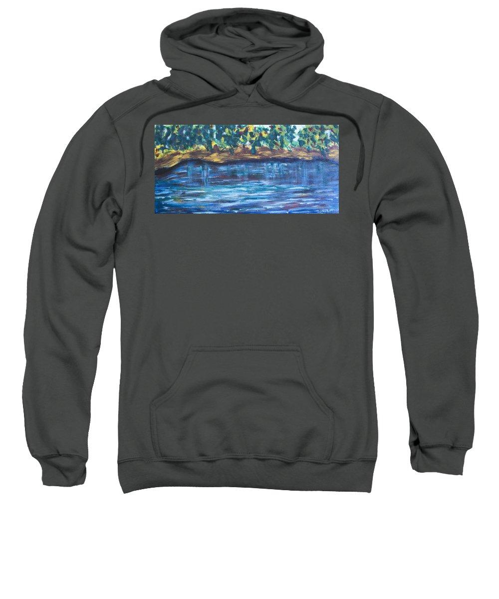 Creek Sweatshirt featuring the painting Creek In Sarasota by Mickey Krause