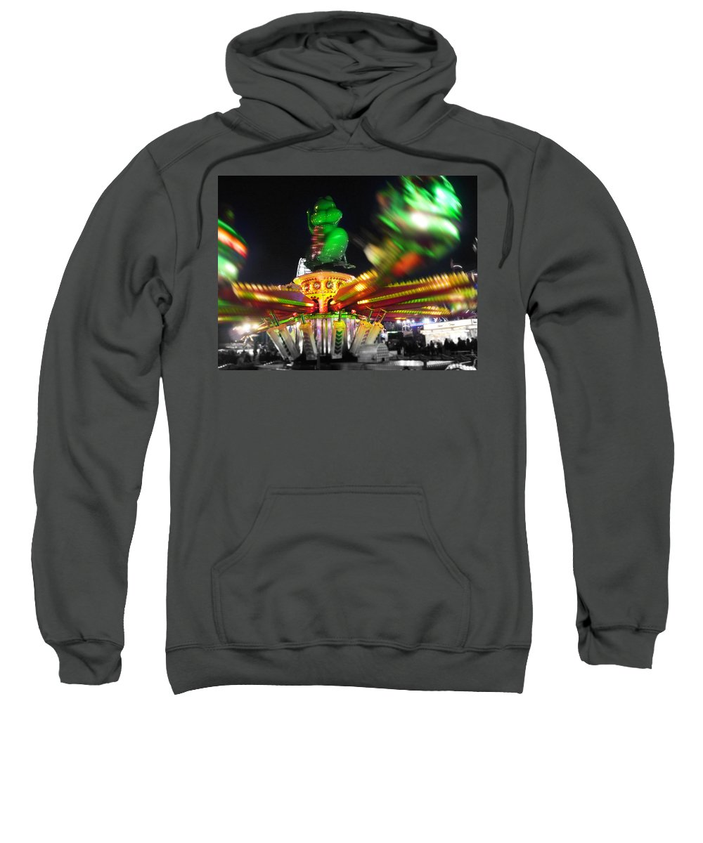 Ride Sweatshirt featuring the digital art Cricket Hopper by Charles Stuart