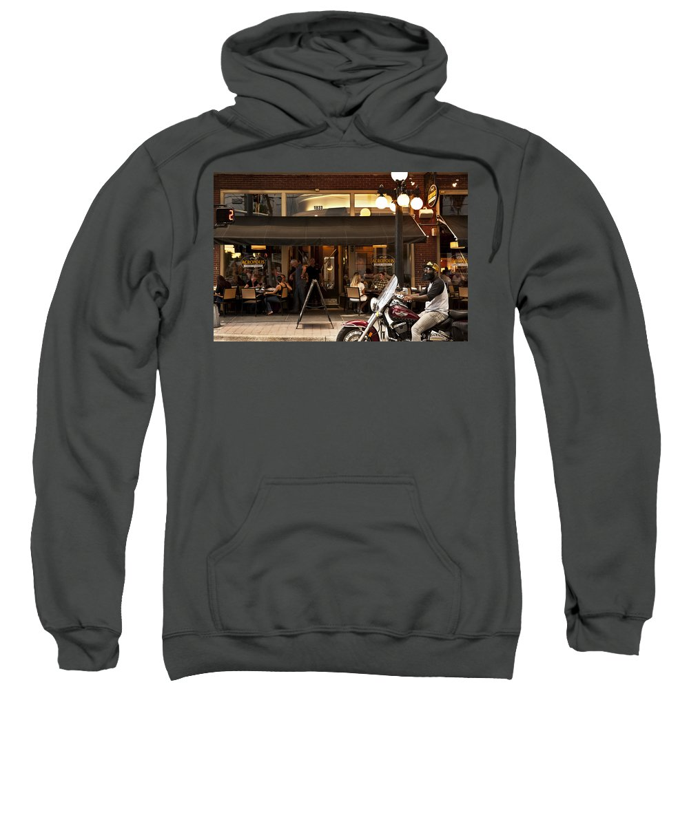 Street Scene Sweatshirt featuring the photograph Crusin' Ybor by Steven Sparks