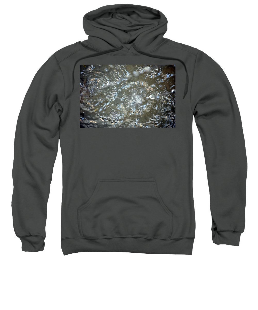 Crystal Sweatshirt featuring the photograph Crystal Clear Bubbles by Maria Urso