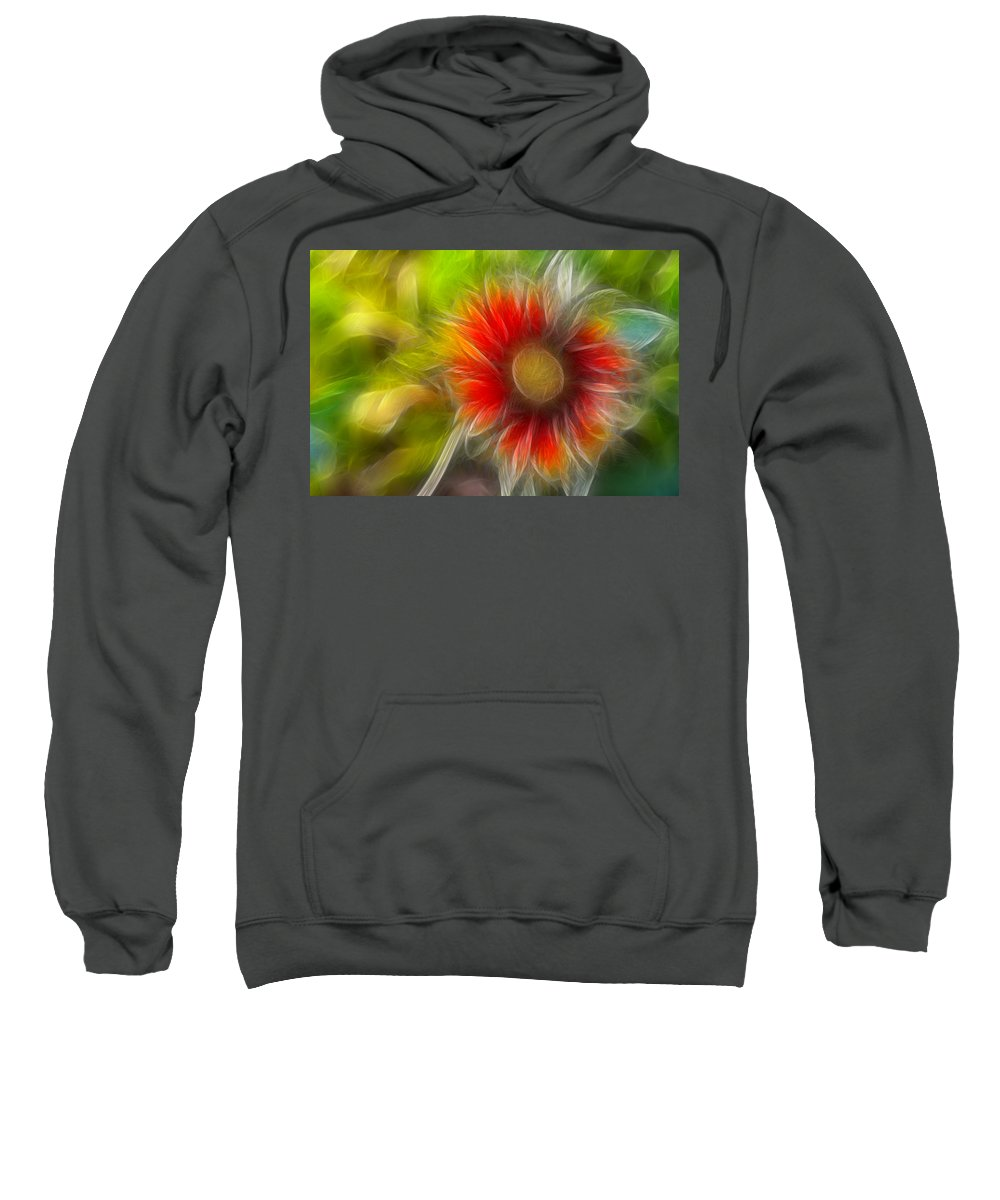 Fractal Sweatshirt featuring the photograph Dalia Pseudo Fractal by Lynne Jenkins