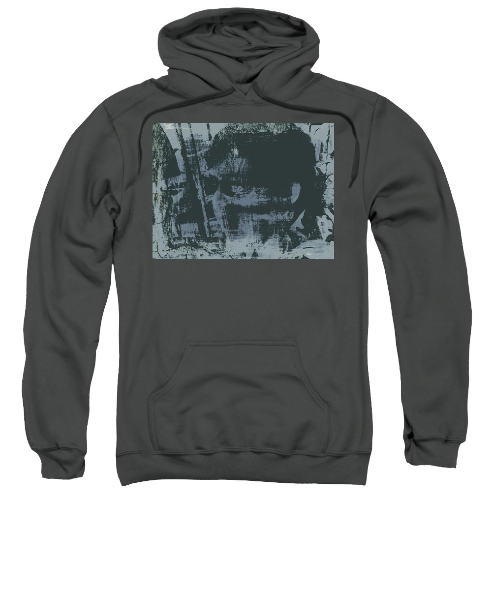 Digital Sweatshirt featuring the digital art Dark Glasses by Christy Leigh
