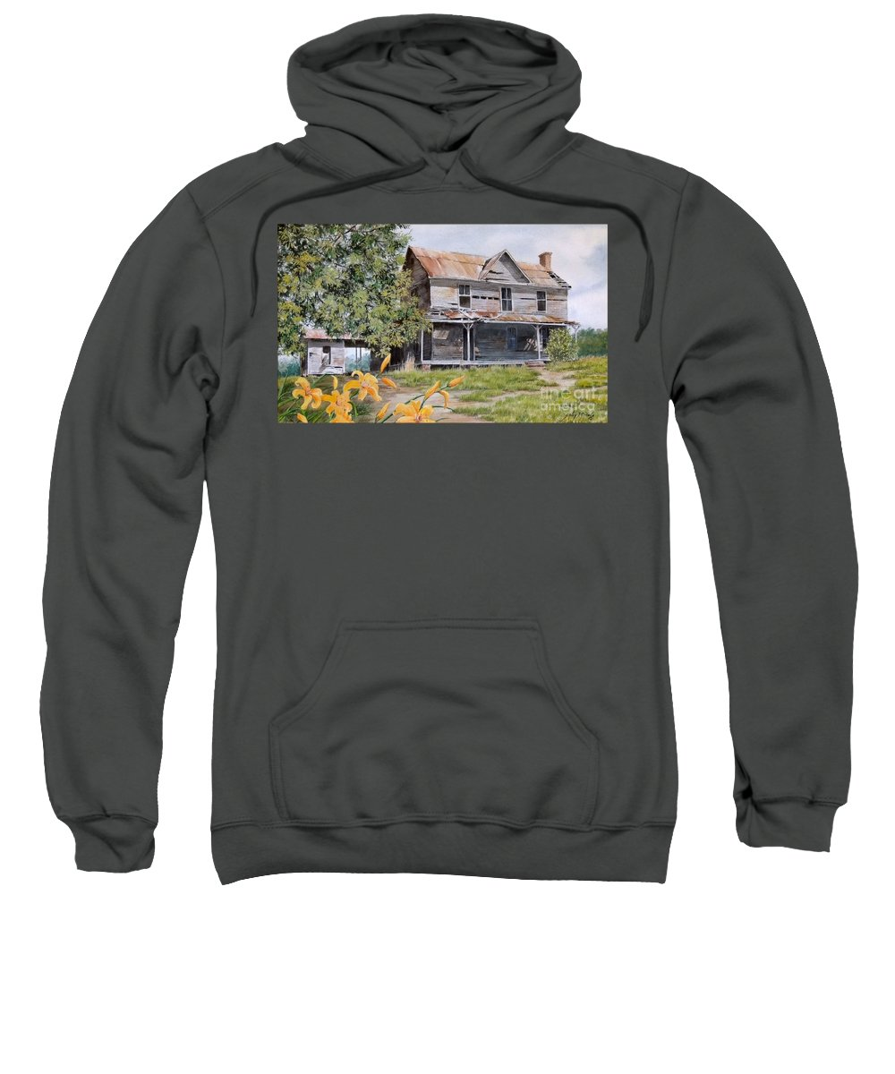 Watercolor Sweatshirt featuring the painting Days Gone By...sold by Sandy Brindle