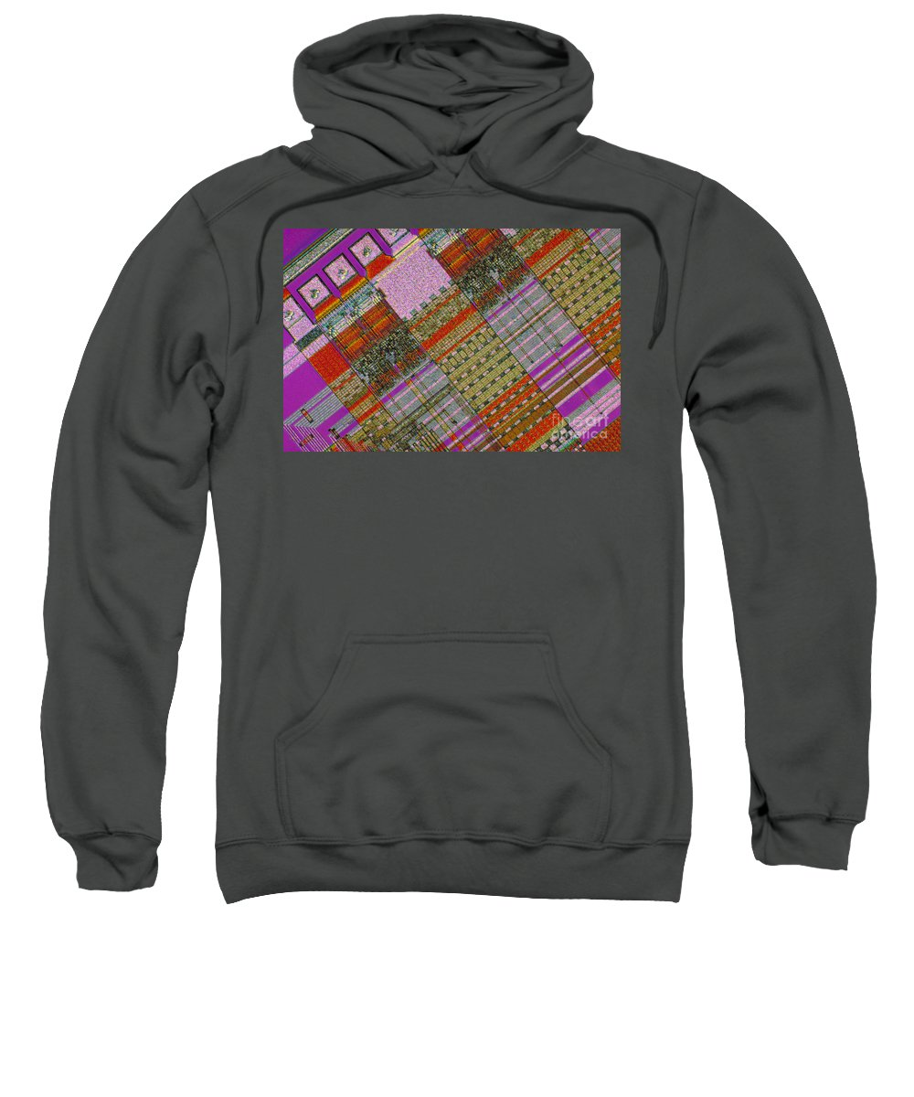 Science Sweatshirt featuring the photograph Dec Chip by Michael W. Davidson