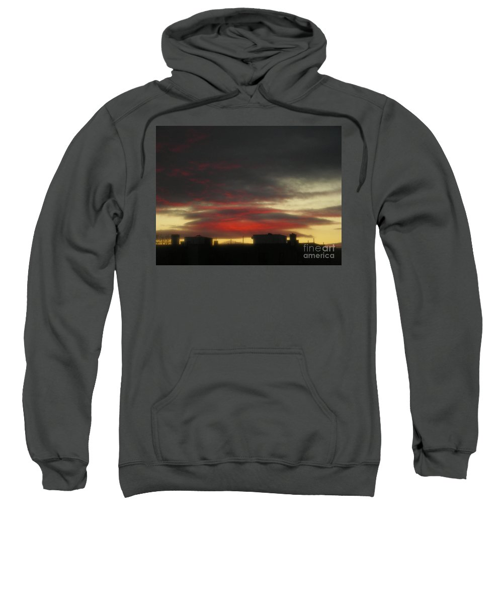 Sunset Sweatshirt featuring the photograph December 21 2009 by Mark Gilman