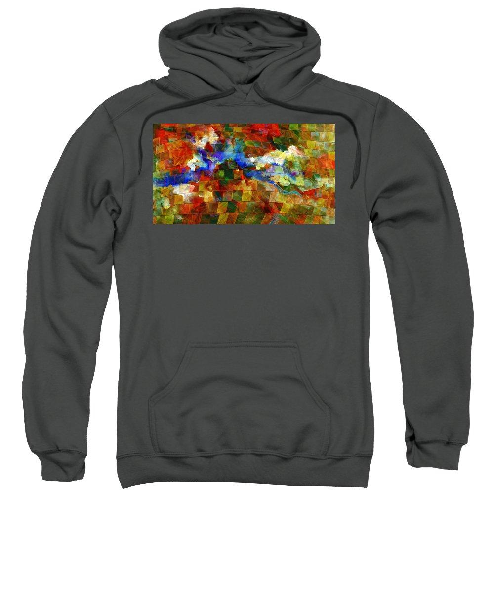 Music Sweatshirt featuring the digital art Dei Miei Bollenti Spiriti by Georgiana Romanovna