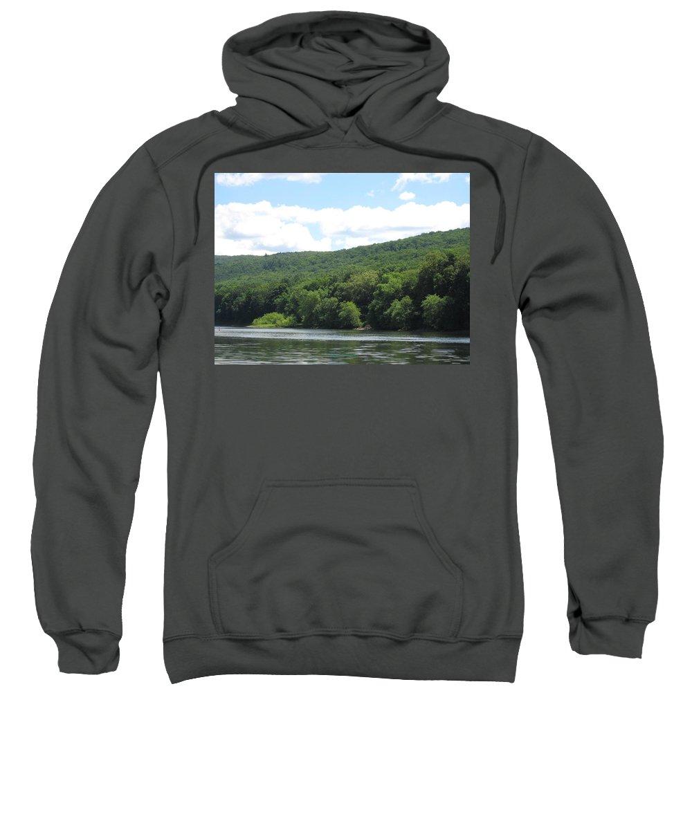 Water Gap Sweatshirt featuring the photograph Delaware Water Gap Scenery by Sonali Gangane