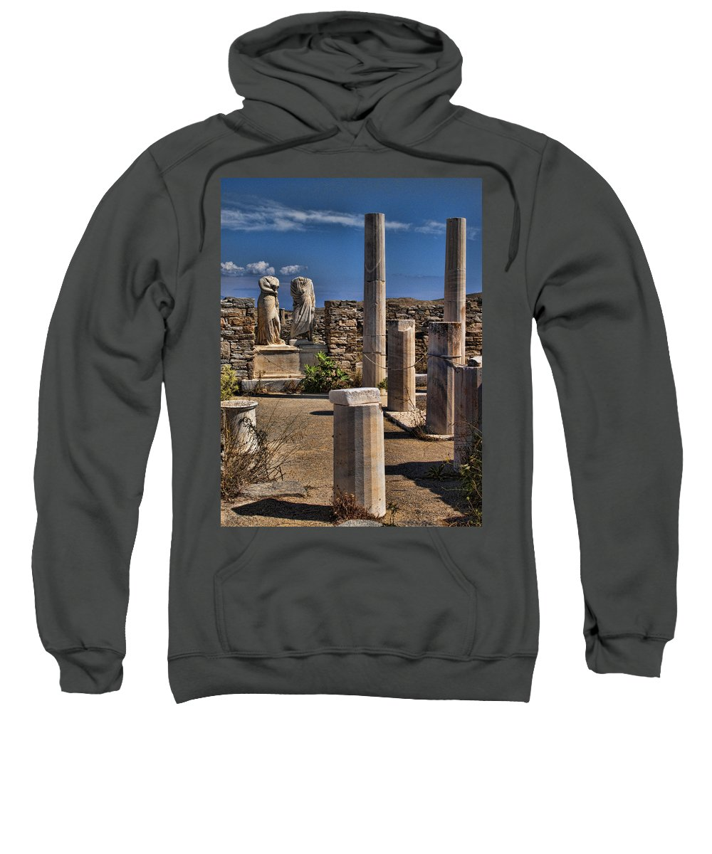 House Of Cleopatra Sweatshirt featuring the photograph Delos Island by David Smith