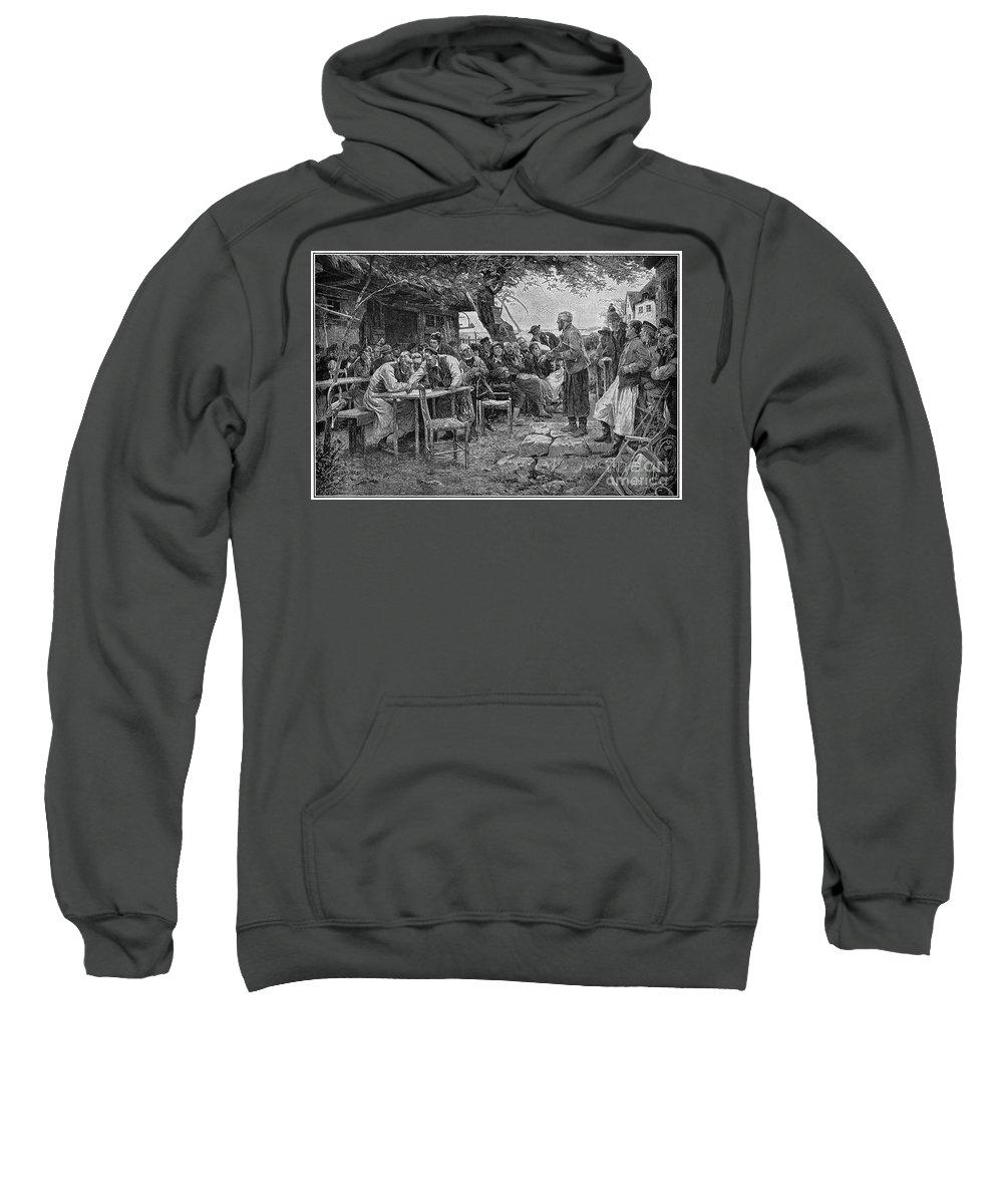 1901 Sweatshirt featuring the photograph Denmark: Fishermen, 1901 by Granger