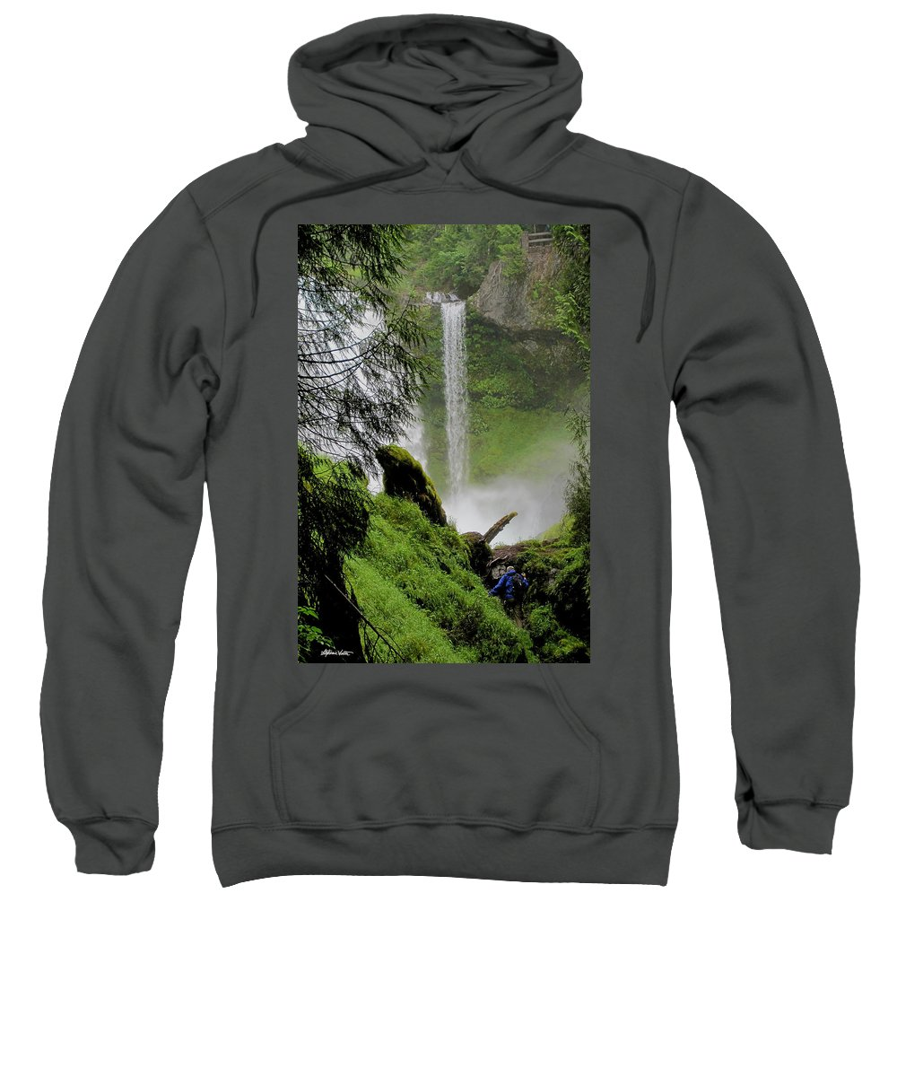 Landscape Sweatshirt featuring the photograph Descent To The Falls by Stephanie Salter