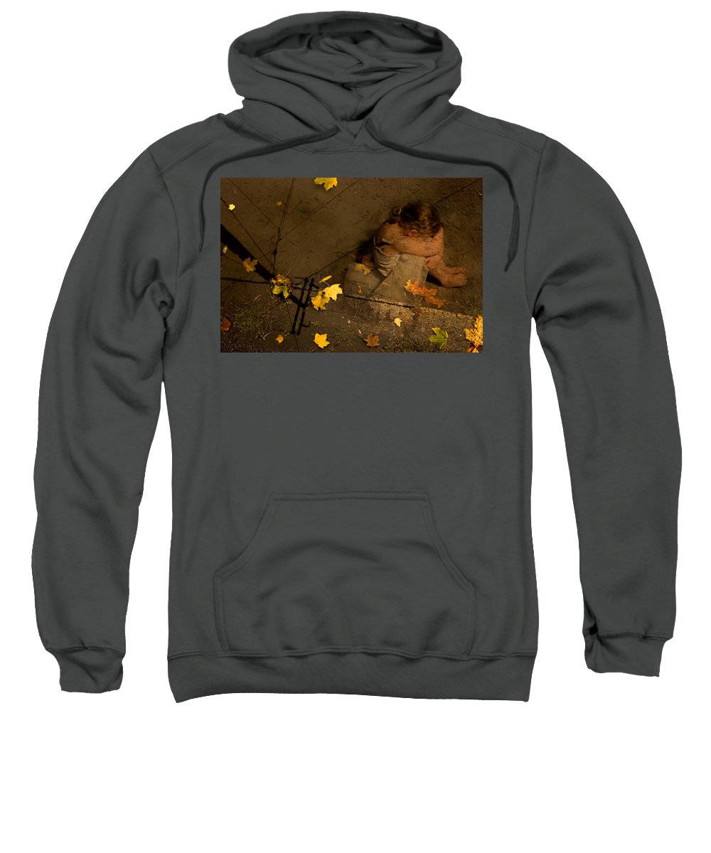 Sweatshirt featuring the digital art Digital Art Essay V by Marie-Dominique Verdier