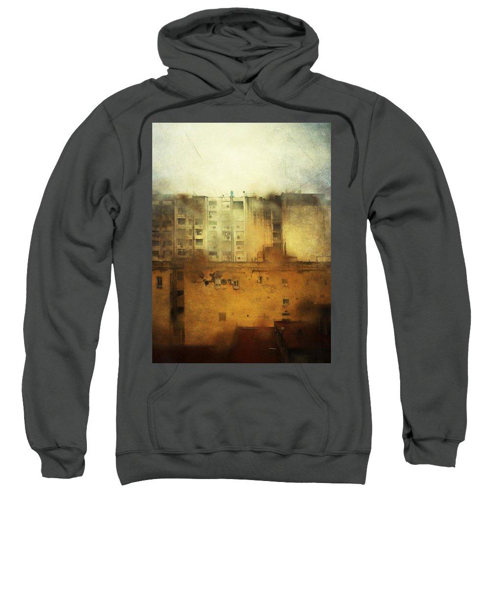 City Sweatshirt featuring the photograph Dirty City View by Osvaldo Hamer