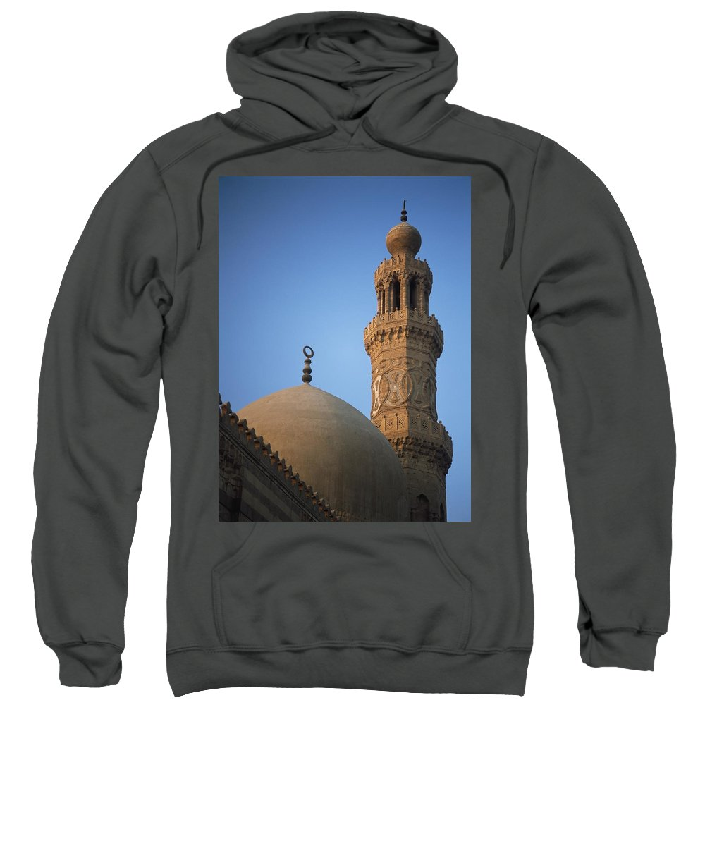 Photography Sweatshirt featuring the photograph Dome And Minaret Of Mosque Of Barquq by Axiom Photographic