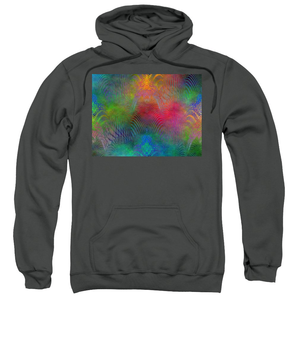 Fence Sweatshirt featuring the digital art Dont Fence Me In 2 by Tim Allen