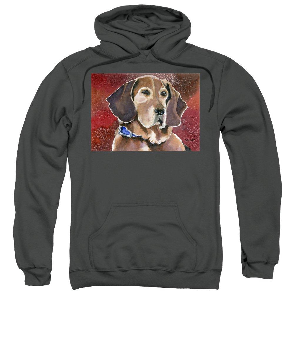 Dog Sweatshirt featuring the painting Dottie by Marsha Elliott
