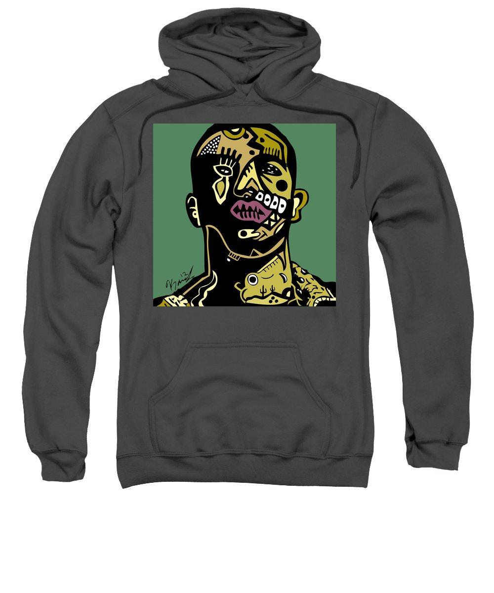 Drake Sweatshirt featuring the digital art Drake Full Color by Kamoni Khem