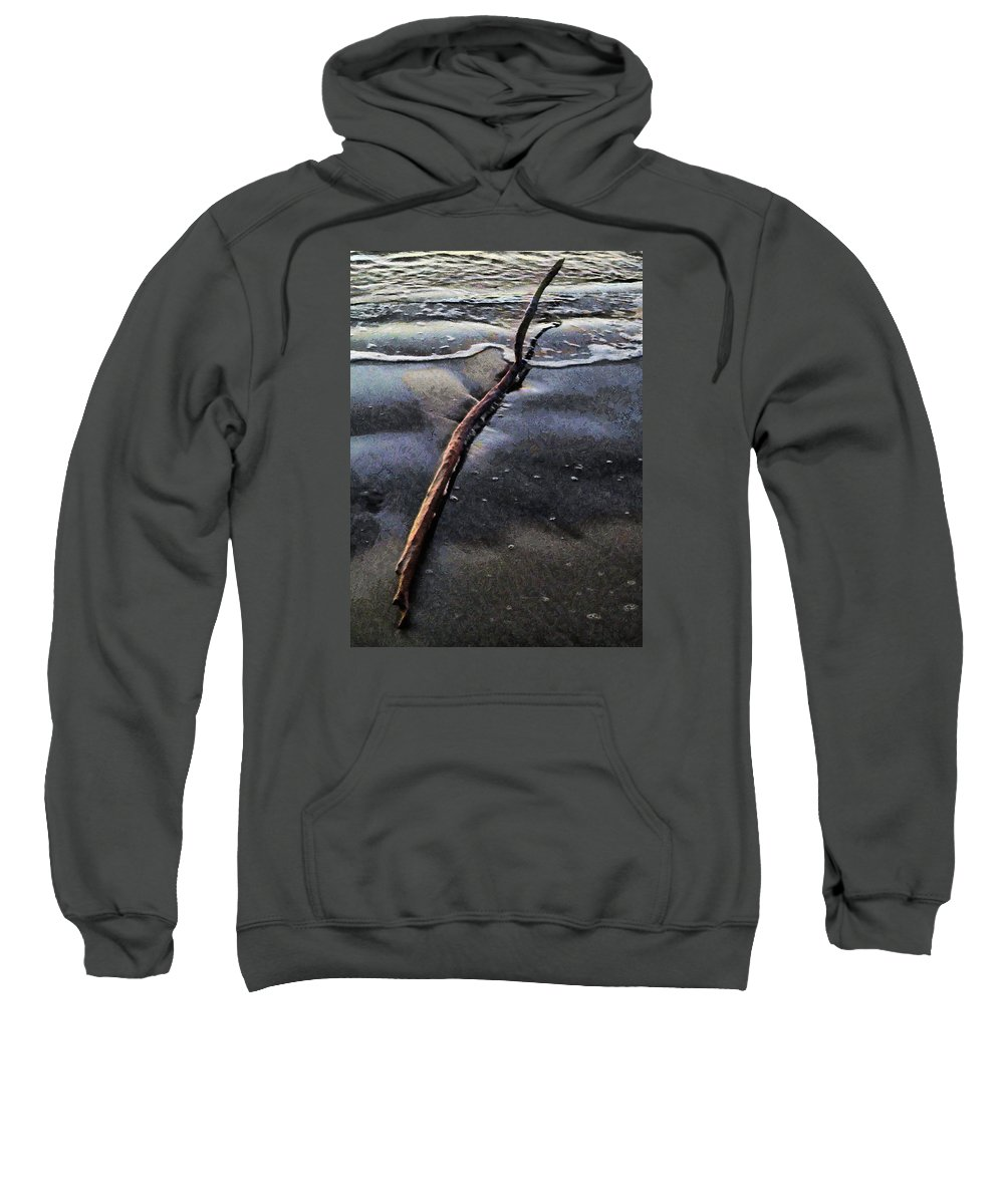 Driftwood Sweatshirt featuring the photograph Driftwood by Steve Taylor