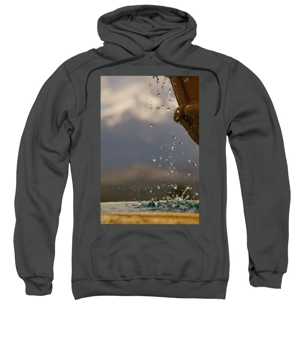 Dripping Sweatshirt featuring the photograph Dripping Fountain by Mick Anderson