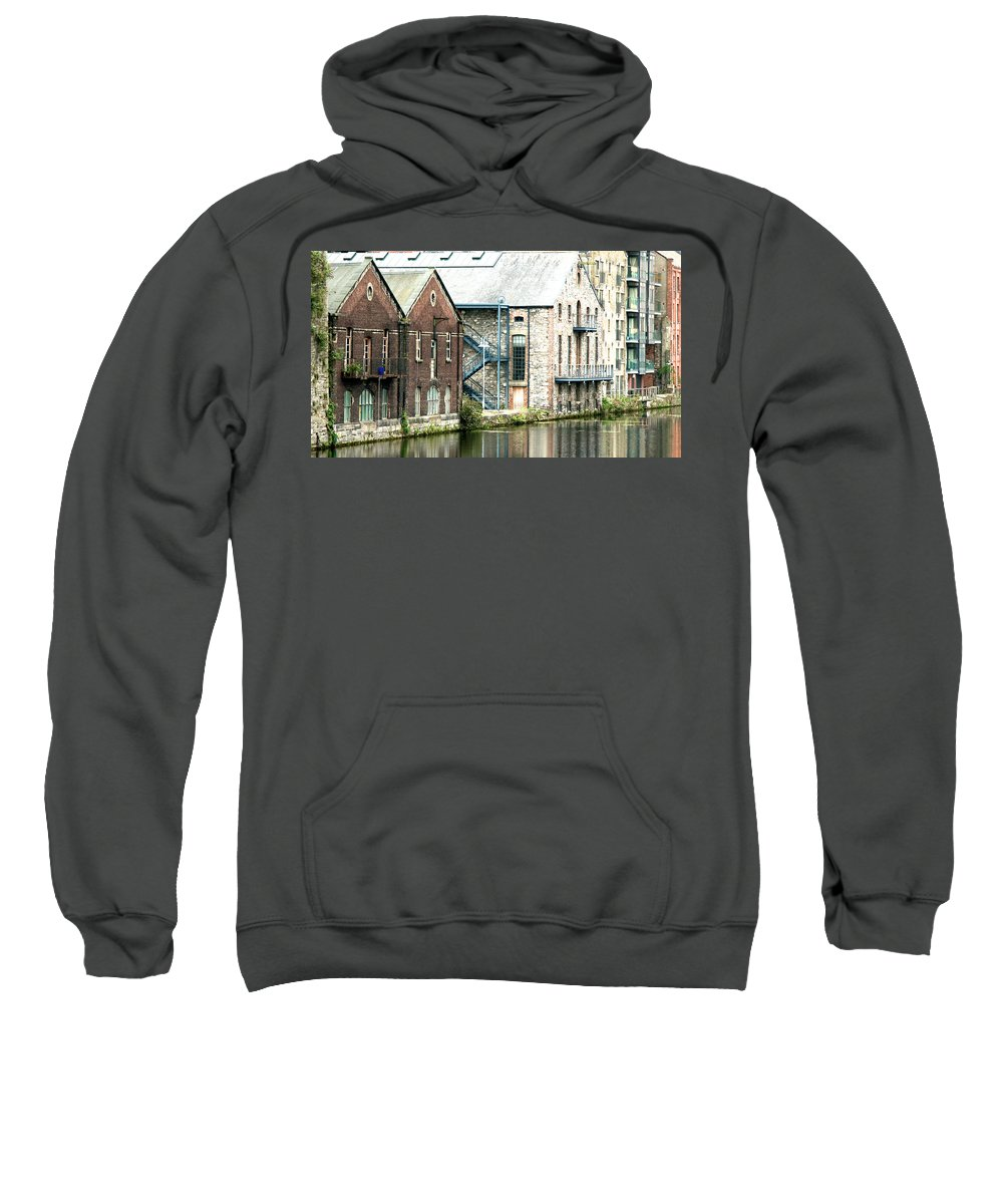 Ireland Sweatshirt featuring the photograph Dublin. Old Harbour by David Resnikoff