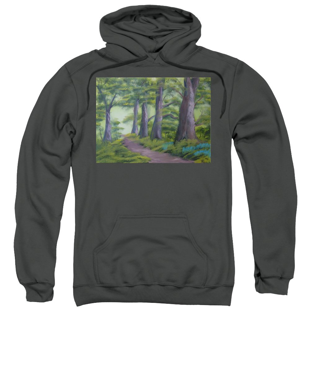 Painting Sweatshirt featuring the painting Duff House Path by Charles and Melisa Morrison