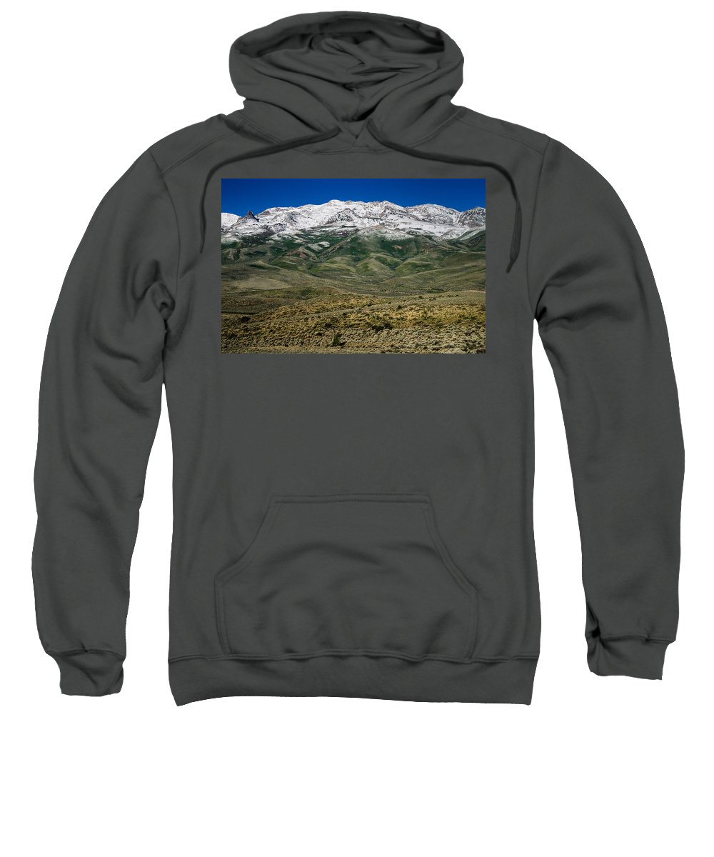 Great Basin Sweatshirt featuring the photograph East Humboldt Range by Greg Nyquist