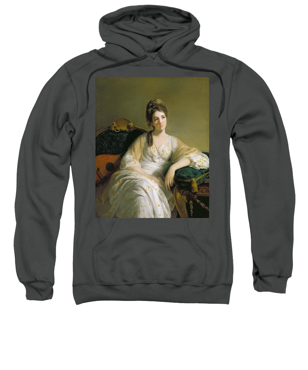 Eleanor Sweatshirt featuring the painting Eleanor Francis Grant - Of Arndilly by Tilly Kettle