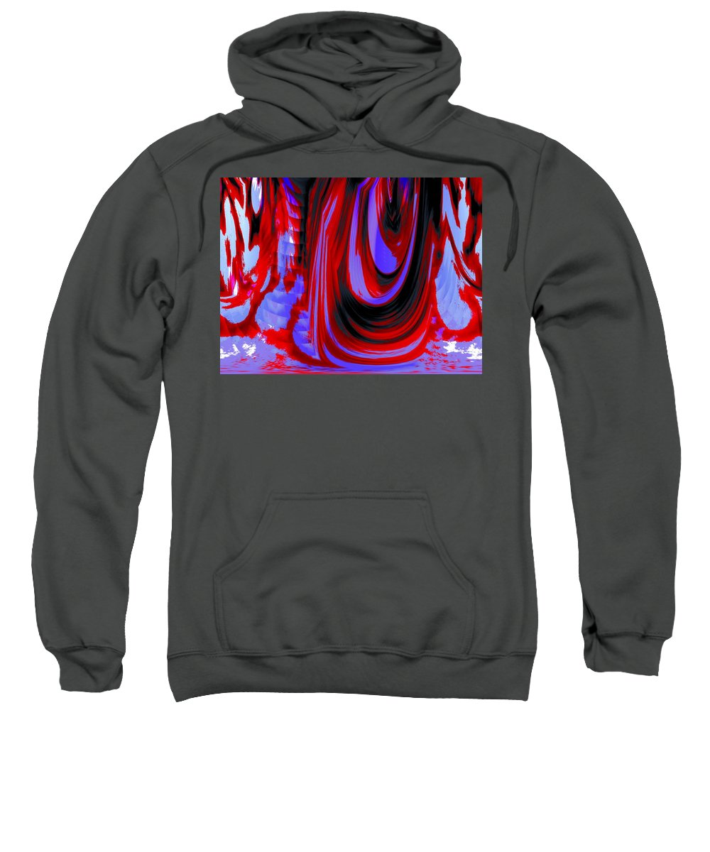 Abstract Sweatshirt featuring the photograph Electric Underground by Renate Nadi Wesley