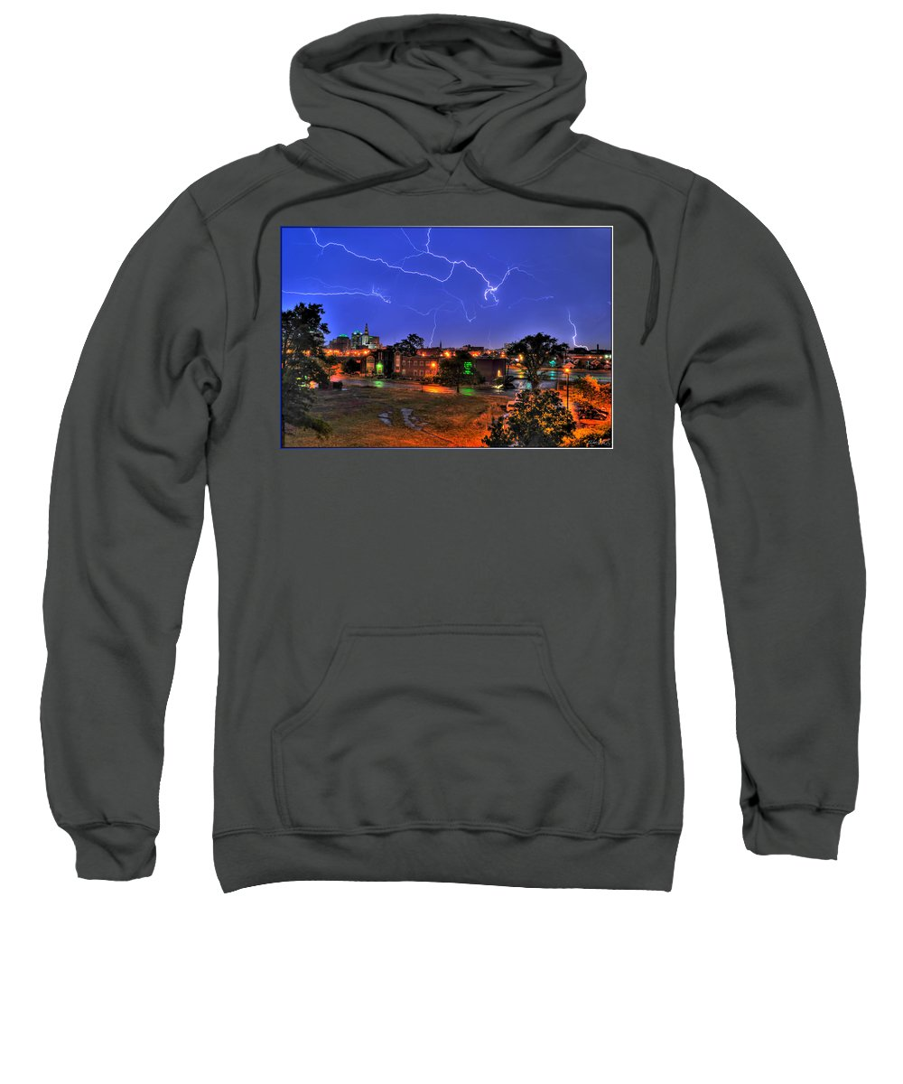 Lightening Sweatshirt featuring the photograph Electrifying Canvases Of Nature by Michael Frank Jr