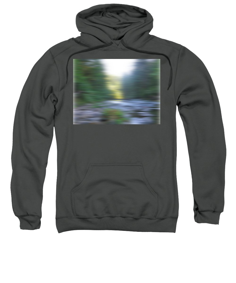 River Sweatshirt featuring the photograph Elkhorn Abstract by Linda Hutchins