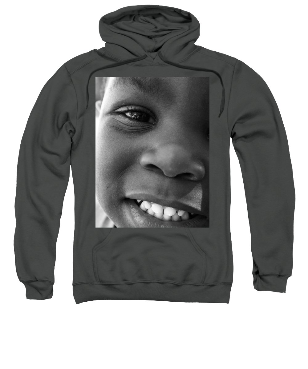 Portrait Sweatshirt featuring the photograph Emery Smile by Sally Bauer
